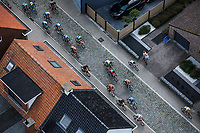 "Chasing group over the cobbles. <br /> <br /> Antwerp Port Epic 2018 (formerly ""Schaal Sels"")<br /> One Day Race: Antwerp > Antwerp (207km of which 32km are cobbles & 30km is gravel/off-road!)"