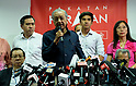 Malaysia's Prime Minister Mahathir Mohamad announces his new cabinet