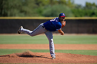 Texas Rangers pitcher Greyson Lambert (53) follows through on his delivery during an Instructional League game against the San Diego Padres on September 20, 2017 at Peoria Sports Complex in Peoria, Arizona. (Zachary Lucy/Four Seam Images)