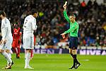 Real Madrid´s Raphael Varane during 2014-15 La Liga match between Real Madrid and Sevilla at Santiago Bernabeu stadium in Alcorcon, Madrid, Spain. February 04, 2015. (ALTERPHOTOS/Luis Fernandez)