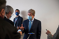 United States Senator Roy Blunt (Republican of Missouri) fields questions from reporters as he arrives for the GOP luncheon in the Hart Senate Office Building on Capitol Hill in Washington, DC., Tuesday, June 23, 2020. <br /> Credit: Rod Lamkey / CNP/AdMedia