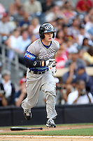 Outfielder Clint Frazier #12 of Loganville H.S. in Loganville, Georgia participates in the Perfect Game All American Classic at Petco Park on August 12, 2012 in San Diego, California. (Larry Goren/Four Seam Images)