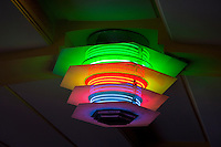 Neon Lights in Lobby of Municipal Theater, Napier, north island, New Zealand.