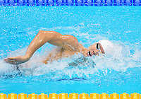 July 28, 2012: Taehwan Park of Korea competes in men's 400m Freestyle final event at the Aquatics Center on day one of 2012 Olympic Games in London, United Kingdom.