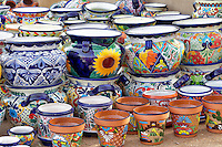 Colorful pots for sale. Tubac. Arizona