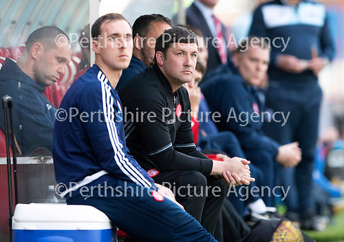 Hamilton Accies v St Johnstone…08.05.18…  New Douglas Park    SPFL<br />Accies manager Martin Canning<br />Picture by Graeme Hart. <br />Copyright Perthshire Picture Agency<br />Tel: 01738 623350  Mobile: 07990 594431