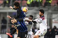 Mauro Icardi, Andrea Ranocchia of Internazionale , Ibrahima Mbaye, Giancarlo Gonzalez of Bologna <br /> Milano 03-02-2019 Stadio San Siro Football Serie A 2018/2019 Inter - Bologna    <br /> Foto Image Sport / Insidefoto
