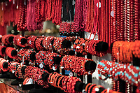 Red coral jewelry on display, Alghero, Sardinia, Italy.