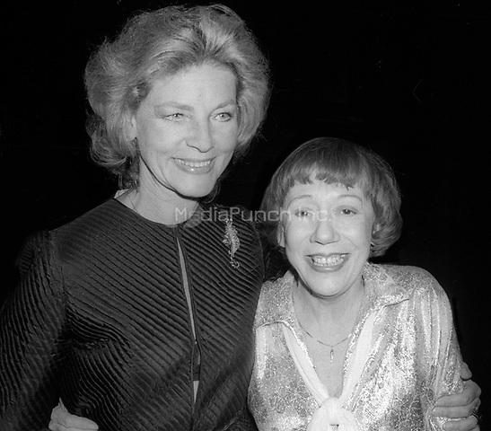 Lauren Bacall and Imogene Coca 1978<br /> Photo By Adam Scull/PHOTOlink /MediaPunch