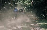 Wout van Aert (BEL/Vérandas Willems-Crelan) thrown back due to a mechanical (in a section where teamcars weren't allowed to follow)<br /> <br /> 92nd Schaal Sels 2017 <br /> 1 Day Race: Merksem > Merksem (188km)