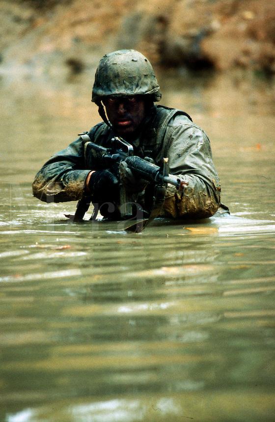 U.S. Marines Officer Candidate School combat training, Quantico, Virginia.