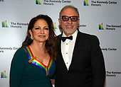Gloria Estefan and Emilio Estefan arrive for the formal Artist's Dinner honoring the recipients of the 41st Annual Kennedy Center Honors hosted by United States Deputy Secretary of State John J. Sullivan at the US Department of State in Washington, D.C. on Saturday, December 1, 2018. The 2018 honorees are: singer and actress Cher; composer and pianist Philip Glass; Country music entertainer Reba McEntire; and jazz saxophonist and composer Wayne Shorter. This year, the co-creators of Hamilton writer and actor Lin-Manuel Miranda, director Thomas Kail, choreographer Andy Blankenbuehler, and music director Alex Lacamoire will receive a unique Kennedy Center Honors as trailblazing creators of a transformative work that defies category.<br /> Credit: Ron Sachs / Pool via CNP