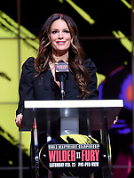 "LOS ANGELES - JANUARY 25: Heidi Androl during a Los Angeles press conference on January 25, 2020 for the ""Wilder vs Fury II"" FOX SPORTS PPV & ESPN+ PPV which will take place on Feb. 22 from the MGM Grand Garden Arena in Las Vegas. (Photo by Frank Micelotta/Fox Sports/PictureGroup)"