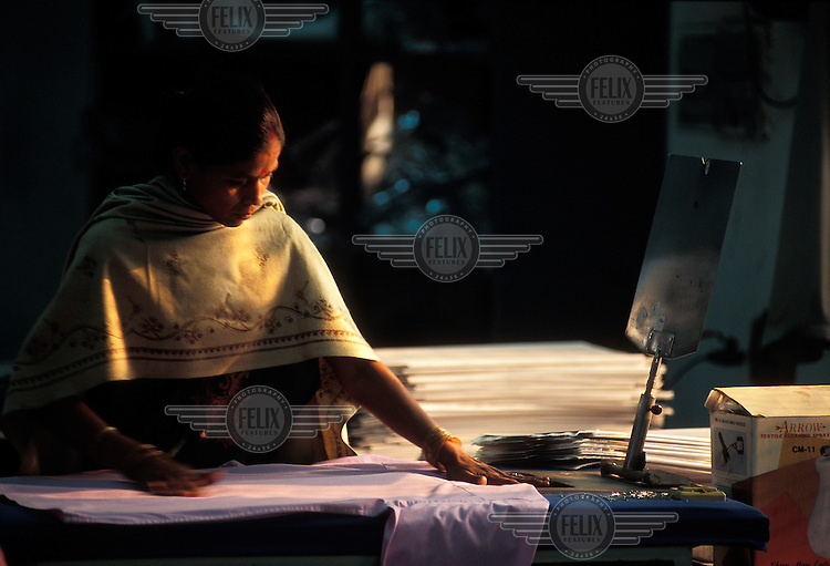 Worker in a textile factory.