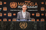 Opening Plenary Meeting of the Nelson Mandela Peace Summit<br /> <br /> . His Excellency Gilles TONELLIMinister for Foreign Affairs and Cooperation of Monaco