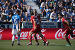 Pablo Sarabia of Sevilla FC celebrates with teammates during their La Liga match between Deportivo Leganes and Sevilla FC at the Butarque Municipal Stadium on 15 October 2016 in Madrid, Spain. Photo by Diego Gonzalez Souto / Power Sport Images