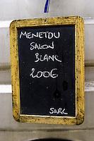 Menetou Salon Blanc 2006. Domaine Henry Pelle, Menetou Salon, Loire, France