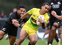 22nd May 2021; Grammar Tec, Auckland New Zealand; All Blacks Sevens versus Australia, Trans-Tasman Sevens;  Australia's Dietrich Roache.