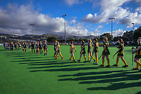 Hawkes Bay v Mid Canterbury. 2021 National Women's Under-18 Hockey Tournament day three at National Hockey Stadium in Wellington, New Zealand on Wednesday, 14 July 2021. Photo: Dave Lintott / lintottphoto.co.nz https://bwmedia.photoshelter.com/gallery-collection/Under-18-Hockey-Nationals-2021/C0000T49v1kln8qk