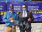 November 7, 2020 : Connections for Audarya, winner of the Maker's Mark Filly & Mare Turf on Breeders' Cup Championship Saturday at Keeneland Race Course in Lexington, Kentucky on November 7, 2020. Bill Denver/Breeders' Cup/Eclipse Sportswire/CSM