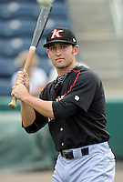 Infielder Drew Lee (11) of the Kannapolis Intimidators, Class A affiliate of the Chicago White Sox, prior to a game against the Greenville Drive on May 26, 2011, at Fluor Field at the West End in Greenville, S.C. The game was postponed due to rain. Photo by Tom Priddy / Four Seam Images