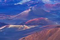 Interior of Haleakala crater, the House of the Sun, Haleakala National park, Maui