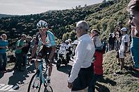 Mickaël Chérel (FRA/AG2R-La Mondiale) is the first rider up the infamous Muro di Sormano (avg 17%/max 25%)<br /> <br /> Il Lombardia 2017<br /> Bergamo to Como (ITA) 247km