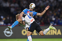 Fernando Llorente of Napoli and Simon Kjaer of Atalanta compete for the ball<br /> Napoli 30-10-2019 Stadio San Paolo <br /> Football Serie A 2019/2020 <br /> SSC Napoli - Atalanta BC<br /> Photo Cesare Purini / Insidefoto
