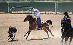 Nick Nalder and Jimmy Lee compete in the team roping event at the Minden Ranch Rodeo on Saturday, July 23, 2011, in Gardnerville, Nev..Photo by Cathleen Allison