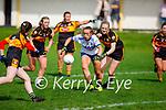 Castleisland Desmonds Paris McCarthy slips past Lara Flynn of Stacks in the Kerry Ladies Intermediate Football championship game