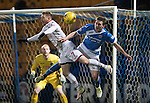 St Johnstone v Ross County… McDiarmid Park..     SPFL<br />Michael Gardyne and Blair Alston<br />Picture by Graeme Hart.<br />Copyright Perthshire Picture Agency<br />Tel: 01738 623350  Mobile: 07990 594431