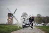 John Degenkolb (DEU/Trek-Segafredo) on the Templeuve sector (Moulin de Vertain)<br /> <br /> Team Trek-Segafredo during their 2017 Paris-Roubaix recon, 3 days prior to the event.