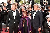 Cannes France May 16 2016 Jury members Laszlo Nemes, Katayoon Shahabi Mads Mikkelsen attends Loving Premiere Palais des Festival During the 69th Annual Cannes Film Festival