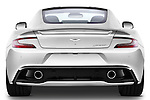 Straight rear view of a 2012 - 2014 Aston Martin Vanquish 2+2 Coupe.