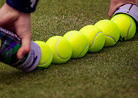 London, England, 8 July, 2019, Tennis,  Wimbledon, New Ball's<br /> Photo: Henk Koster/tennisimages.com