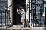 © Joel Goodman - 07973 332324 . 11/05/2015 . London , UK . JUSTINE GREENING arrives at 10 Downing Street this afternoon (11th May 2015) . Photo credit : Joel Goodman