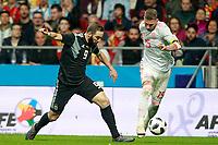 Spain's Sergio Ramos (r) and Argentina's Gonzalo Pipita Higuain during international friendly match. March 27,2018.(ALTERPHOTOS/Acero) /NortePhoto.com NORTEPHOTOMEXICO