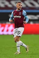 Jarrod Bowen of West Ham United during West Ham United vs Aston Villa, Premier League Football at The London Stadium on 30th November 2020