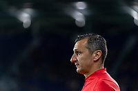 ORLANDO, FL - MARCH 05: Vlatko Andonovski of the United States watches his team during a game between England and USWNT at Exploria Stadium on March 05, 2020 in Orlando, Florida.