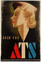 BNPS.co.uk (01202 558833)<br /> Pic: AntikBar/BNPS<br /> <br /> A rare surviving copy of one of the most controversial recruitment posters of the Second World War has emerged for sale for £15,000.<br /> <br /> Map room assistant Doreen Murphy was sketched by artist Abram Games for the women's ATS poster that had to later be withdrawn because it was 'too sexy'.<br /> <br /> The 10,000 copies of the 'Blonde Bombshell' posters made were ordered to be torn down from recruitment offices and public buildings. The vast majority of them were pulped and only a handful of them are known to exist today.<br /> <br /> This example, which is in 'very good' condition, has been consigned for sale by a private owner who acquired it some years with Antikbar Original Vintage Posters, of London.