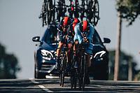 7th September 2021: Llandeilo, Wales:The AJ Bell Tour Of Britain 2021. Stage 3 Llandeilo to National Botanic Garden of Wales. Team Time Trial. Team Ineos. Ethan Hayter, Owain Doull, Richie Porte, Michal Kwiatkowski, Carlos Rodriguez.