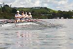 Rowing, United States Women's lightweight quadruple sculls, Victoria Burke, Kristin Hedstrom, Ursula Grobler, Abelyn (Abby) Broughton, stroke, heat race, November 2, 2010 FISA World Rowing Championships, Lake Karapiro, Hamilton, New Zealand,