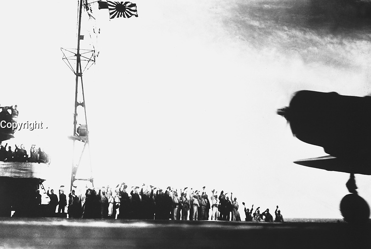 Captured Japanese photograph taken aboard a Japanese carrier before the attack on Pearl Harbor, December 7, 1941.  (Navy)<br /> NARA FILE #:  080-G-30549<br /> WAR & CONFLICT BOOK #:  1132