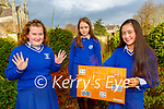 Killarney Presentation students l-r: amy Walsh, Aisling Cahill and Chloe Hue who have started a company Casual Crews that has club gloves and  and crew necks jumbers