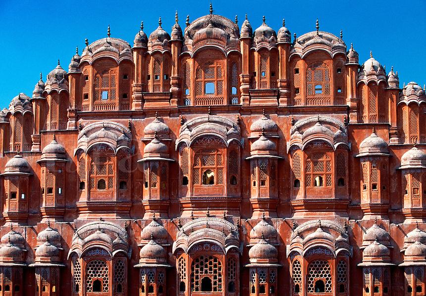 Hawa Mahal Palace of the Winds Jaipur Rajasthan India.
