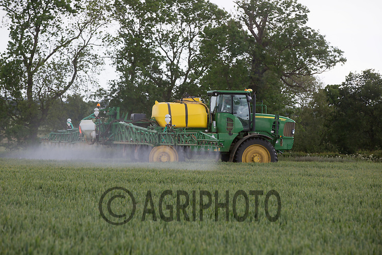Applying fungicide to Winter Wheat<br /> Picture Tim Scrivener 07850 303986