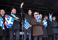 Le Premier ministre canadien Justin Trudeau, participe aux festivitees de la fete nationale grecque, le 3 avril 2016, a Montreal.<br /> <br /> PHOTO  :  Agence Quebec Presse