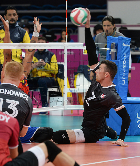 Doug Learoyd, Lima 2019 - Sitting Volleyball // Volleyball assis.<br /> Canada competes in men's Sitting Volleyball // Canada participe au volleyball assis masculin. 24/08/2019.