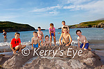 Cooling down with a little 'Fun in the Sun' at Cuas Crom Cahersiveen on Tuesday were front l-r; Cillian O'Connor, Odhran O'Connor, Niamh County, Fionn O'Connor, Joseph Bruce, eamus Hallissey, back l-r; Eanna County, Sean O'Connor & Connor County.