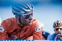 Mathieu Van der Poel (NED) pre race focus<br /> <br /> Men's Elite race <br /> <br /> UCI 2019 Cyclocross World Championships<br /> Bogense / Denmark<br /> <br /> <br /> ©kramon